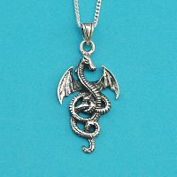 Coiled Dragon Pendant - Celtic Pendants, Claddagh Pendants and much more!, Here Be Dragons!