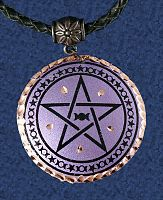 Purple Pentacle Copper Pendant