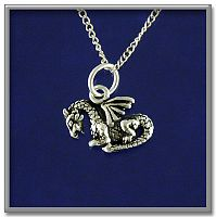 Dragonet Pendant - Celtic Pendants, Claddagh Pendants and much more!, Here Be Dragons!, New Lower Silver Prices