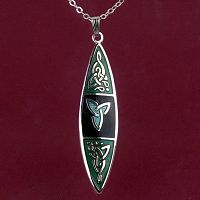 Black and Green Celtic Pendant