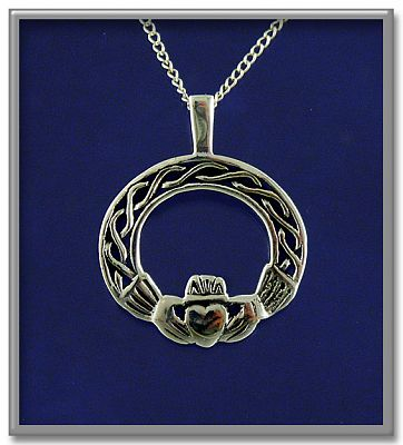 Filigree Claddagh Pendant - Clearance Jewelry, Clearance