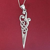 Silver Freeform Celtic Pendant