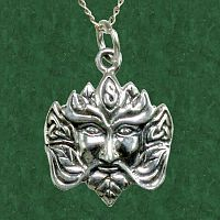 Greenman Pendant - Celtic Pendants, Claddagh Pendants and much more!, Trees & Greenman, Pagan Jewelry, New Lower Silver Prices