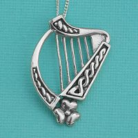 Harp Pendant - Celtic Pendants, Claddagh Pendants and much more!, Music, Celtic Jewelry