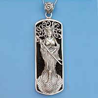 Silver Lady of the Lake Pendant