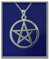 Large Open Pentacle Pendant