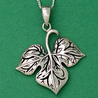 Leaf Pendant - Celtic Pendants, Claddagh Pendants and much more!, Trees & Greenman, Pagan Jewelry, New Lower Silver Prices