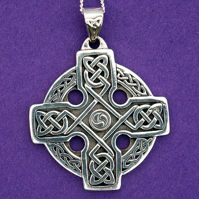 Silver Lots of Knots Cross Pendant
