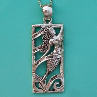 Silver Mermaid Pendant