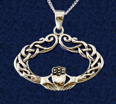 Curlique Claddagh Pendant - Clearance Jewelry, Clearance