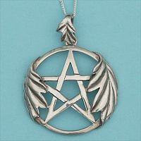 Silver Oak Leaf Pentacle Pendant