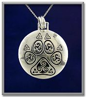 Celtic Pawprint Pendant - Celtic Pendants, Claddagh Pendants and much more!, Gifts for Animal Lovers, Celtic Jewelry, Pagan Jewelry, New Lower Silver Prices, Cats