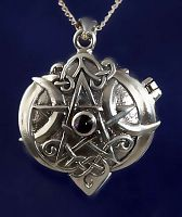 Amethyst Heart Pentacle Locket - Hearts & Romance, Celtic Pendants, Claddagh Pendants and much more!