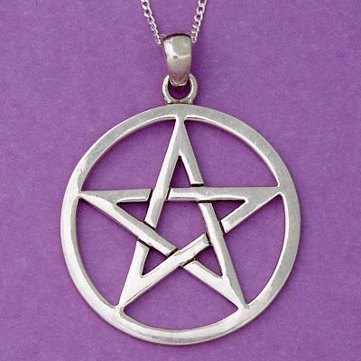 Silver large open pentacle pendant at gryphons moon silver large open pentacle pendant aloadofball Gallery