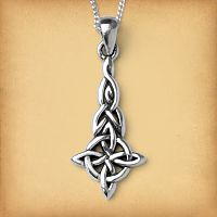 Silver Four Quarters Celtic Pendant