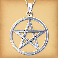 Silver Large Pentacle Pendant - Pagan Jewelry, Celtic Jewelry, Handmade Cloaks, and more.
