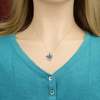 Silver Celtic Heart Pendant