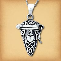 Silver Conical Heart Locket