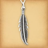 Silver Feather Pendant - Pagan Jewelry, Celtic Jewelry, Handmade Cloaks, and more.