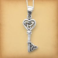 Silver Celtic Key Pendant