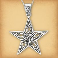 Silver Knotwork Star Pendant