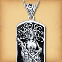 Silver Lady of the Lake Pendant - Pagan Jewelry, Celtic Jewelry, Handmade Cloaks, and more.