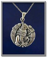 Regal Gryphon Pendant - Celtic Pendants, Claddagh Pendants and much more!, Gryphons, Take Flight, New Lower Silver Prices