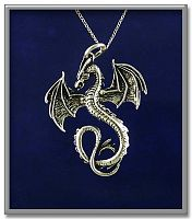 Dragon Volant Pendant - Celtic Pendants, Claddagh Pendants and much more!, Here Be Dragons!, Gifts for Dragon Lovers