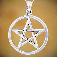 Silver Large Open Pentacle Pendant
