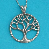 Silver Tree Pendant - Trees & Greenman, Sterling Silver Pendants - Celtic, Goddess, Fantasy, Pagan, Nature, Witch, Wiccan