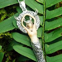 Small Silver Forest Goddess Pendant