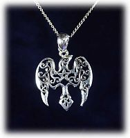 Star Raven Pendant - Pentacles, Celtic Pendants, Claddagh Pendants and much more!, Ravens, Moons & Stars