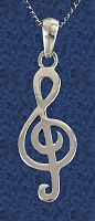 Treble Clef Pendant - Celtic Pendants, Claddagh Pendants and much more!, Music