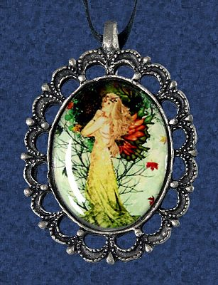 """Tree Elemental"" Cameo Necklace - More Pendants, Trees & Greenman"