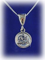 Triquetra/Moonstone Flip Pendant - Free shipping on orders over $50 at Gryphon