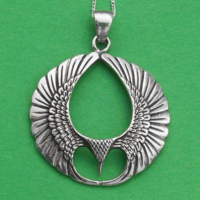 Silver wings pendant at gryphons moon silver wings pendant aloadofball Choice Image