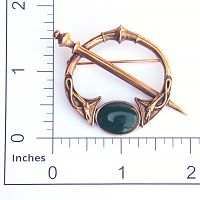 Celtic Dog Bronze Pin - Pins & Brooches