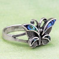 Butterfly Poison Ring - Clearance Jewelry, Sterling Silver Rings, Celtic Rings, Claddagh Rings, Wedding Rings and More!, Clearance
