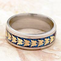 Butterfly Band - Silver and Blue