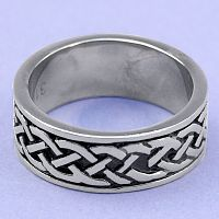 Celtic Braid Steel Ring
