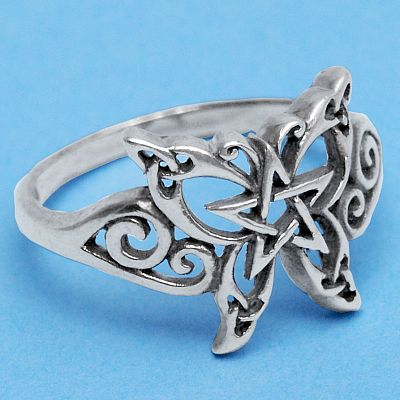 Celtic Butterfly Ring - Celtic Rings, Claddagh Rings, Wedding Rings and More, Pentacles, Moons & Stars, Sterling Silver Rings - Celtic Rings, Pagan Rings, Claddagh Rings, Unusual Rings, Nature Rings, Wedding Rings, Engagement Rings, Butterflies and Dragonflies
