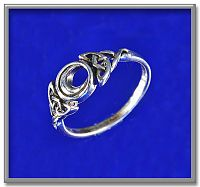Celtic Moon Ring - Celtic Rings, Claddagh Rings, Wedding Rings and More!, Moons & Stars, Moonlight Madness, Celtic Jewelry, Pagan Jewelry, New Lower Silver Prices, Celtic Wedding & Claddaugh Wedding Accessories, Sterling Silver Rings