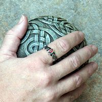 Silver Celtic Fire Ring