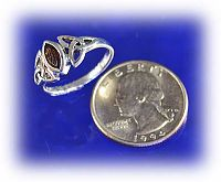 Garnet Celtic Ring - Celtic Rings, Claddagh Rings, Wedding Rings and More, Sterling Silver Rings - Celtic Rings, Pagan Rings, Claddagh Rings, Unusual Rings, Nature Rings, Wedding Rings, Engagement Rings,