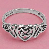 Celtic Heart Ring - Celtic, Romance, Celtic Rings, Claddagh Rings, Wedding Rings and More, Sterling Silver Rings - Celtic Rings, Pagan Rings, Claddagh Rings, Unusual Rings, Nature Rings, Wedding Rings, Engagement Rings, Hearts & Romance