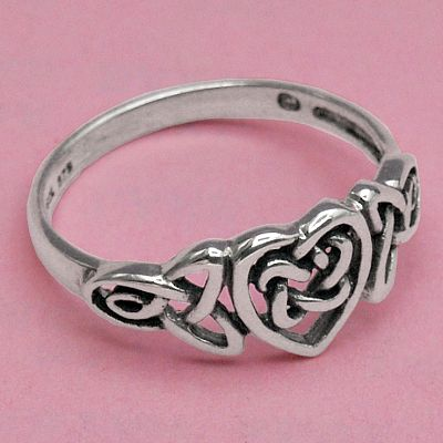 Silver Celtic Heart Ring
