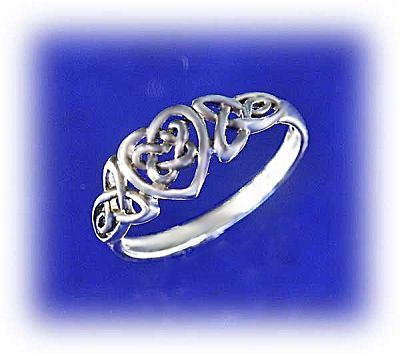 Celtic Heart Ring - Celtic Rings, Claddagh Rings, Wedding Rings and More, Sterling Silver Rings - Celtic Rings, Pagan Rings, Claddagh Rings, Unusual Rings, Nature Rings, Wedding Rings, Engagement Rings, Hearts & Romance