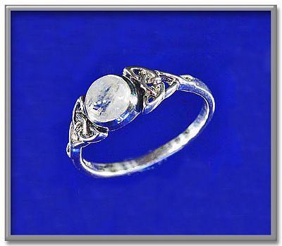 Moonstone Celtic Ring for You at Gryphon's Moon