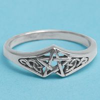 Silver Celtic Star Ring