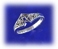 Celtic Star Ring - Celtic Rings, Claddagh Rings, Wedding Rings and More!, Pentacles, Stars, Moons & Stars, Gifts for the Proud Pagan, Celtic Jewelry, Pagan Jewelry, New Lower Silver Prices, Sterling Silver Rings